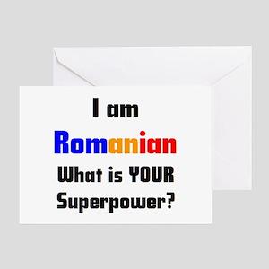 i am romanian Greeting Card