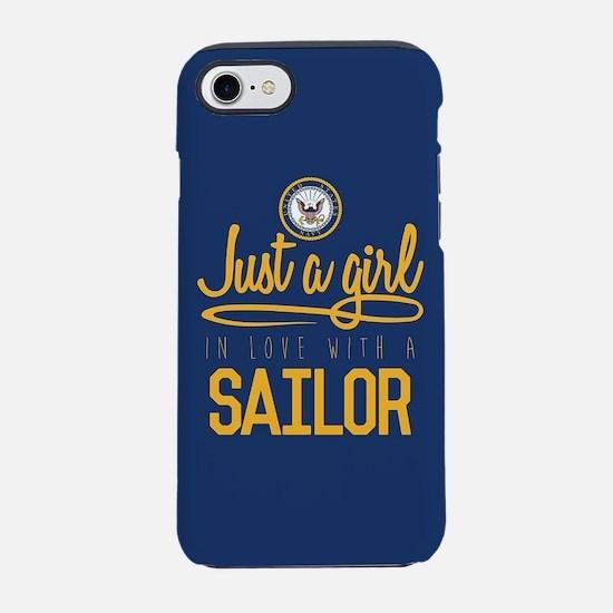 Navy Girl Love a Sailor iPhone 8/7 Tough Case