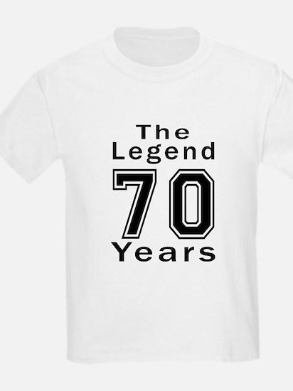 70 Legend Birthday Designs T-Shirt