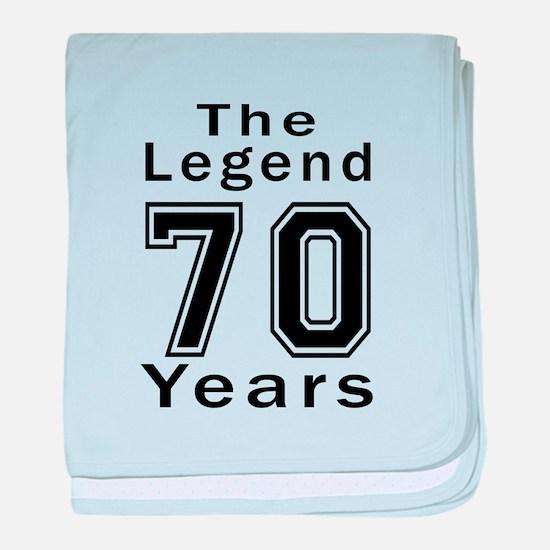 70 Legend Birthday Designs baby blanket
