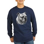 English Bulldog Long Sleeve Dark T-Shirt
