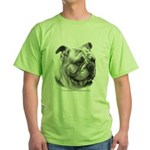 English Bulldog Green T-Shirt