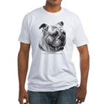 English Bulldog Fitted T-Shirt