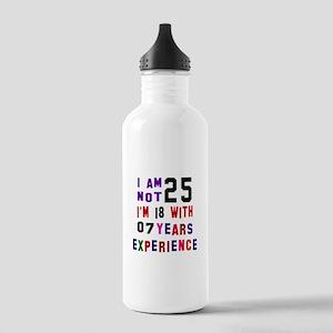 25 Birthday Designs Stainless Water Bottle 1.0L