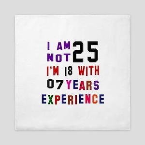 25 Birthday Designs Queen Duvet