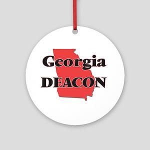 Georgia Deacon Round Ornament