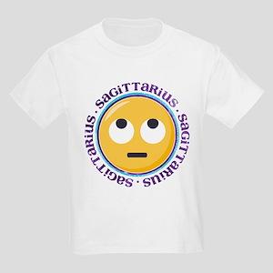 Emoji Sagittarius Horoscope Kids Light T-Shirt