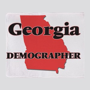 Georgia Demographer Throw Blanket