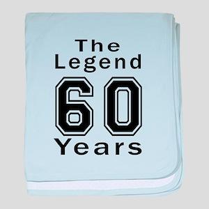 60 Legend Birthday Designs baby blanket