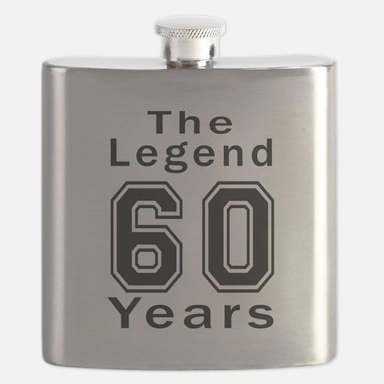 60 Legend Birthday Designs Flask