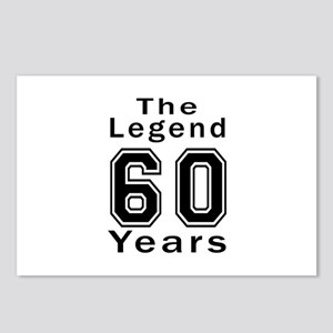 60 Legend Birthday Design Postcards (Package of 8)