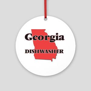 Georgia Dishwasher Round Ornament
