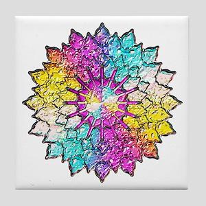 Multicolor Glass Look Tile Coaster