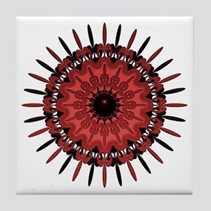 Red Feather Tile Coaster