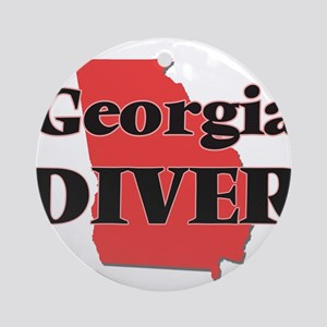 Georgia Diver Round Ornament