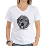 Labradoodle Women's V-Neck T-Shirt