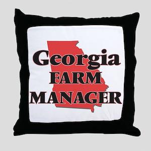 Georgia Farm Manager Throw Pillow