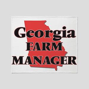 Georgia Farm Manager Throw Blanket