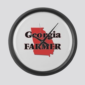 Georgia Farmer Large Wall Clock