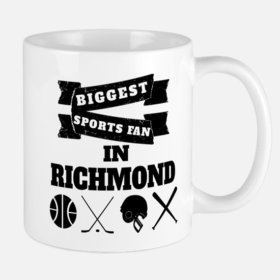 Biggest Sports Fan In Richmond Mugs