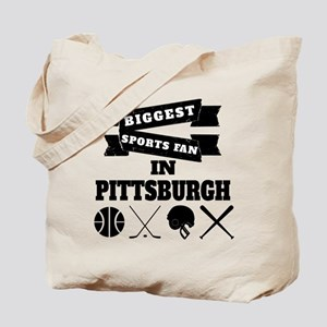 Biggest Sports Fan In Pittsburgh Tote Bag