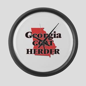 Georgia Goat Herder Large Wall Clock