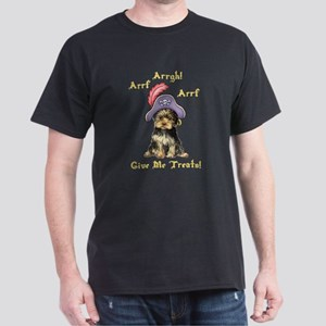 Yorkie Pirate Dark T-Shirt