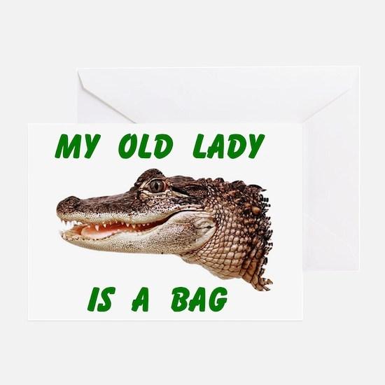 ALLIGATOR BAG Greeting Card