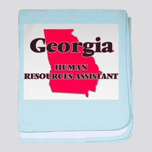 Georgia Human Resources Assistant baby blanket