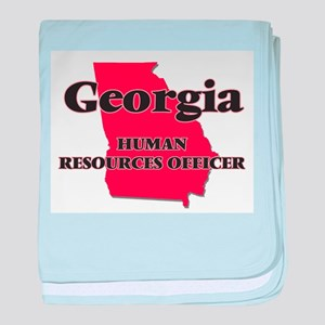 Georgia Human Resources Officer baby blanket