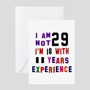 29 Birthday Designs Greeting Card