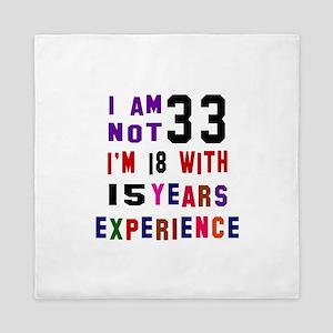 33 Birthday Designs Queen Duvet