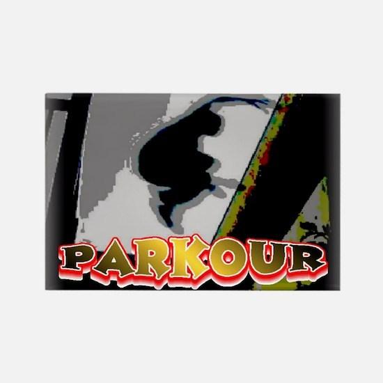 Parkour Rectangle Magnet