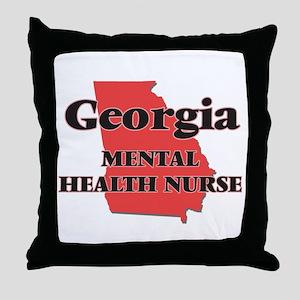 Georgia Mental Health Nurse Throw Pillow
