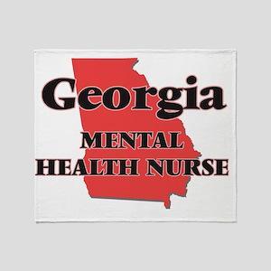 Georgia Mental Health Nurse Throw Blanket