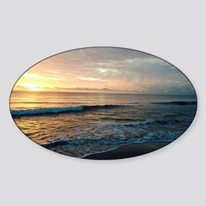 J Rowe Sunrise Jupiter FL Sticker (Oval)