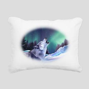 Winter Wolf 2015 Rectangular Canvas Pillow