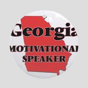 Georgia Motivational Speaker Round Ornament