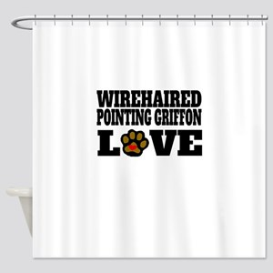 Wirehaired Pointing Griffon Love Shower Curtain