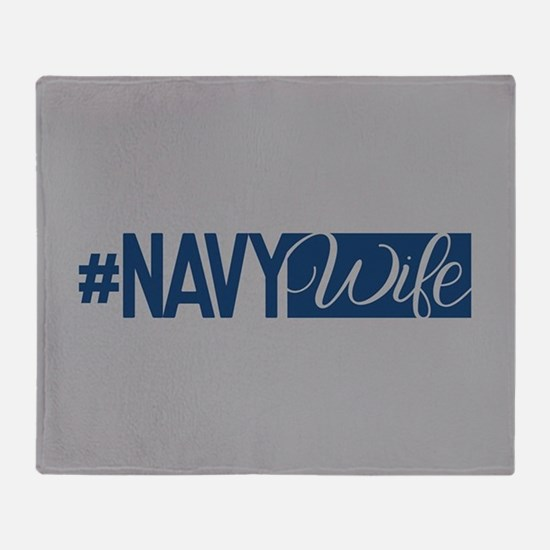 #NavyWife Throw Blanket