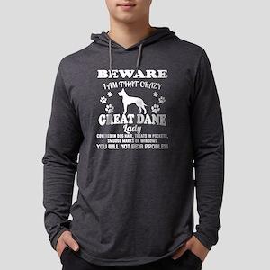 Crazy Great Dane Lady Shirt Long Sleeve T-Shirt