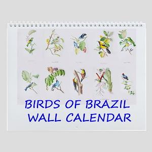 Brazilian Tropical Birds Wall Calendar