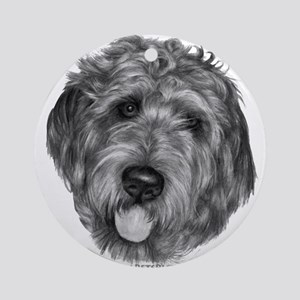 Labradoodle Ornament (Round)