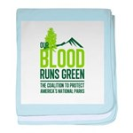 Our Blood Runs Green baby blanket