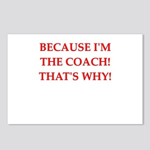 coach gifts t-shirts presen Postcards (Package of