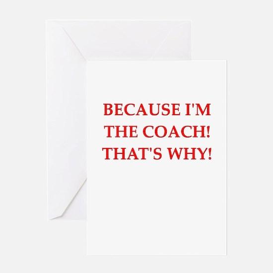 coach gifts t-shirts presen Greeting Card