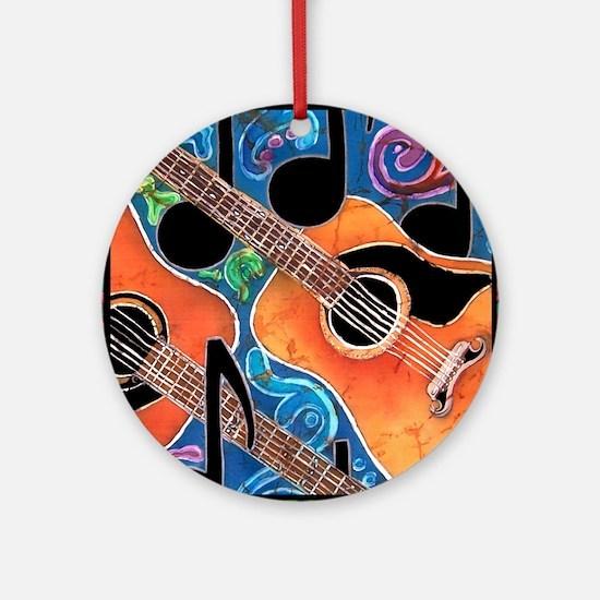 Guitar Round Ornament