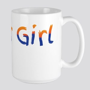 Keller Girl Blue and Gold. Mugs