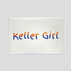 Keller Girl Blue and Gold. Magnets