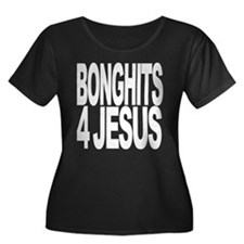 Bonghits 4 Jesus Women's Plus Size Scoop Neck Dark